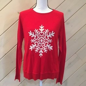 THE LIMITED SNOW FLAKES LIGHT WEIGHT SWEATER M-L♥️